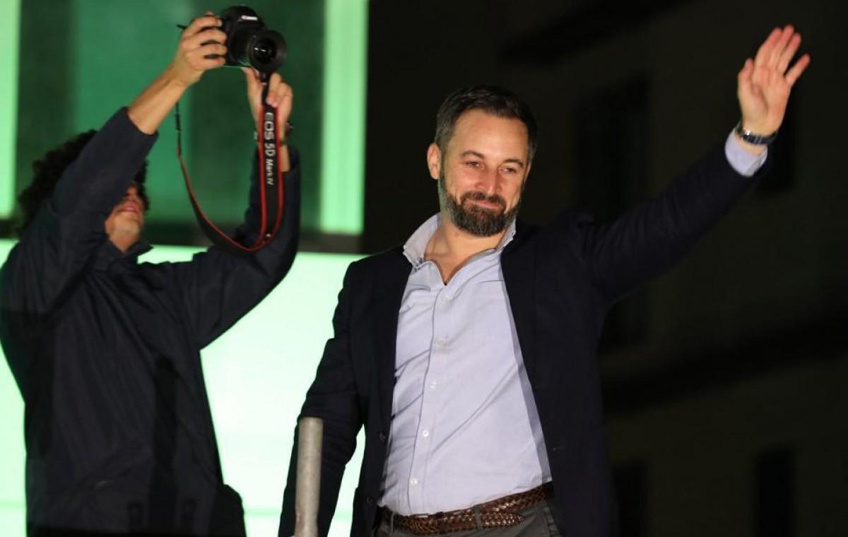 El líder de VOX, Santiago Abascal, este diumenge