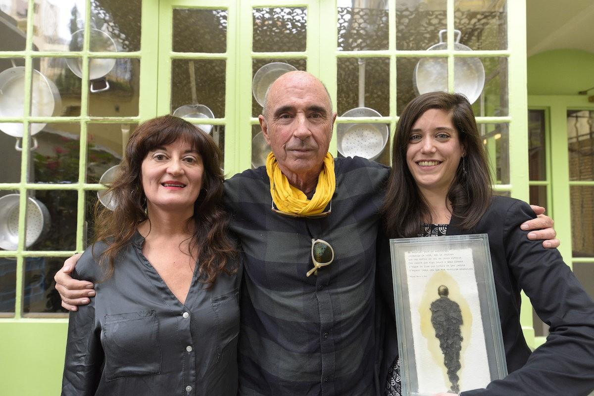 Foto de família de l'entrega del Premi Miquel Martí i Pol 2019