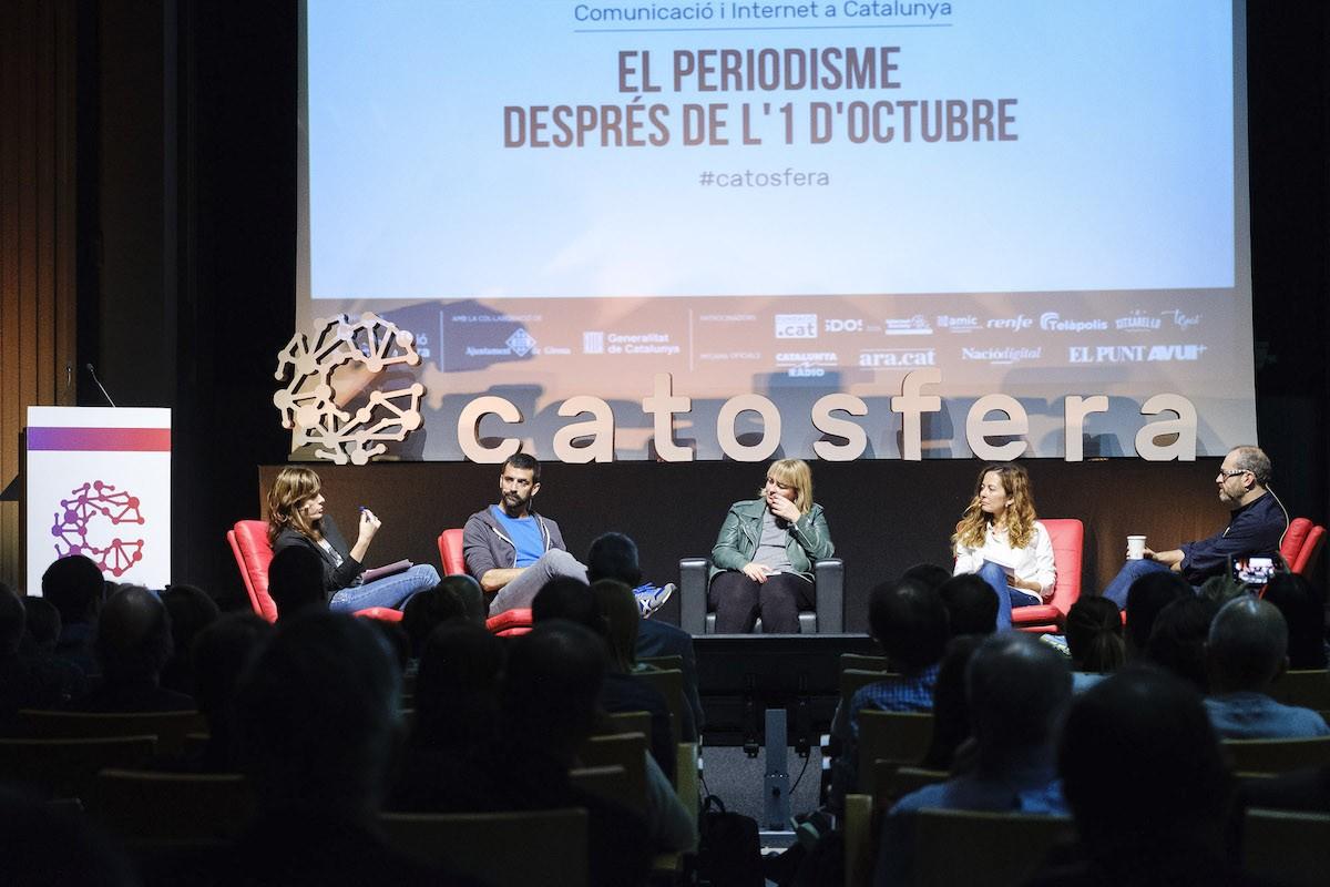 Un debat sobre el periodisme després de l'1-O en l'edició de l'any passat de la Catosfera