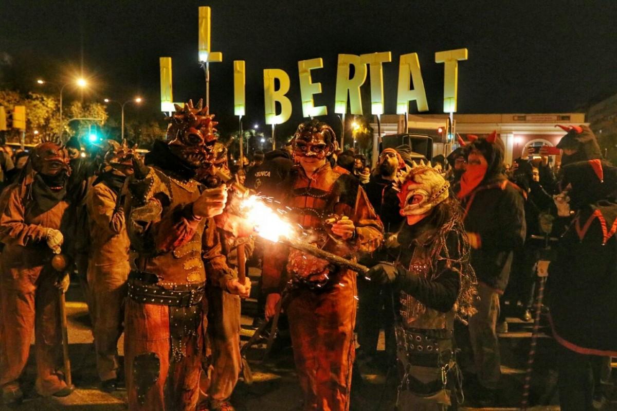 Els Diables de Sant Andreu van participar al tall de la Meridiana