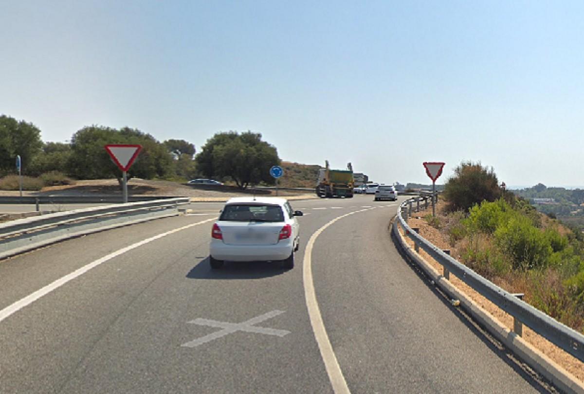 Captura de la zona per on ha tingut lloc a l'AP-7 a toca del Nou Estadi de Tarragona