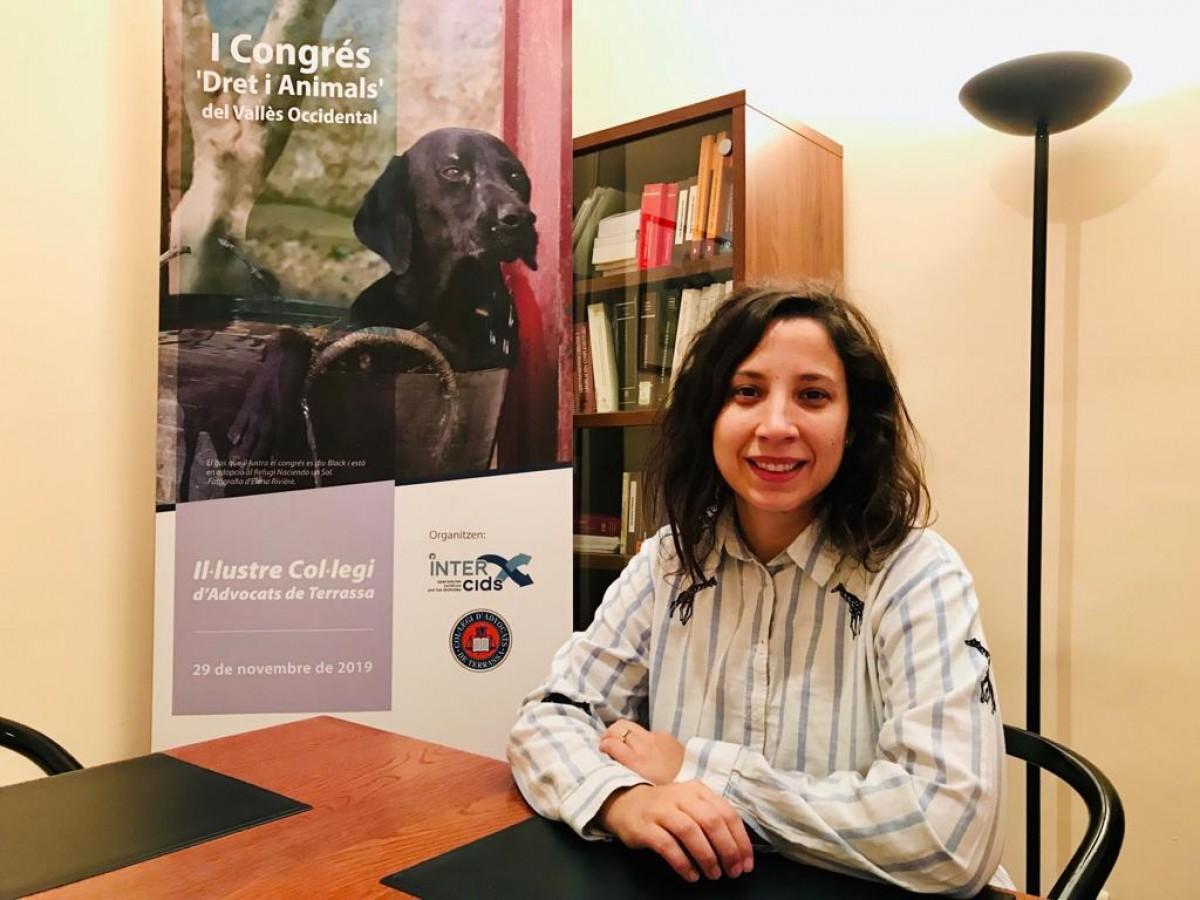 Cristina Becares, advocada experta en dret animal.
