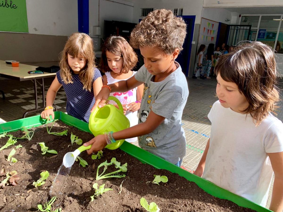 Alumnes de l'escola cooperativa Nou Patufet de Barcelona