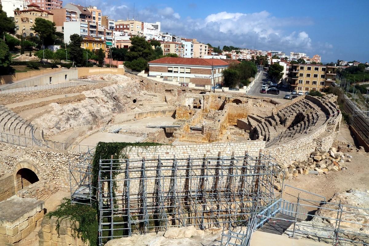 L'amfiteatre romà de Tarragona, ja tancat al públic provisionalment