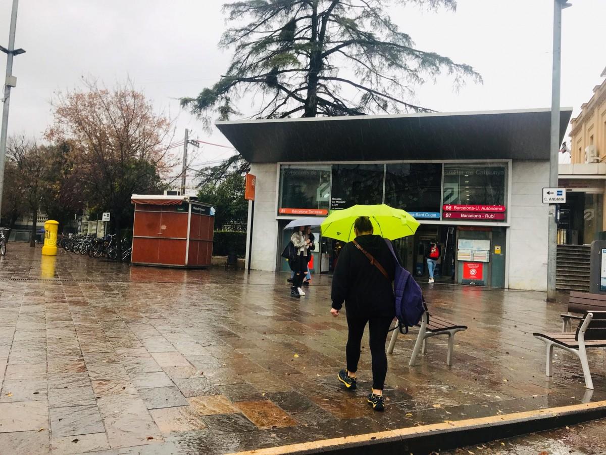 Pluja a Sant Cugat.