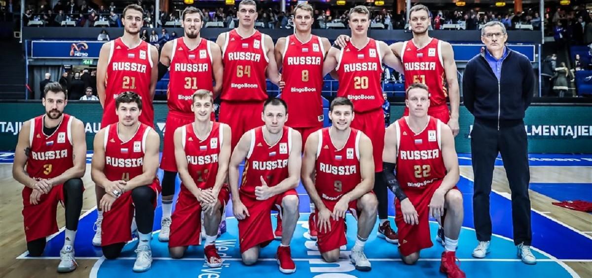Jugadors de bàsquet de la selecció russa