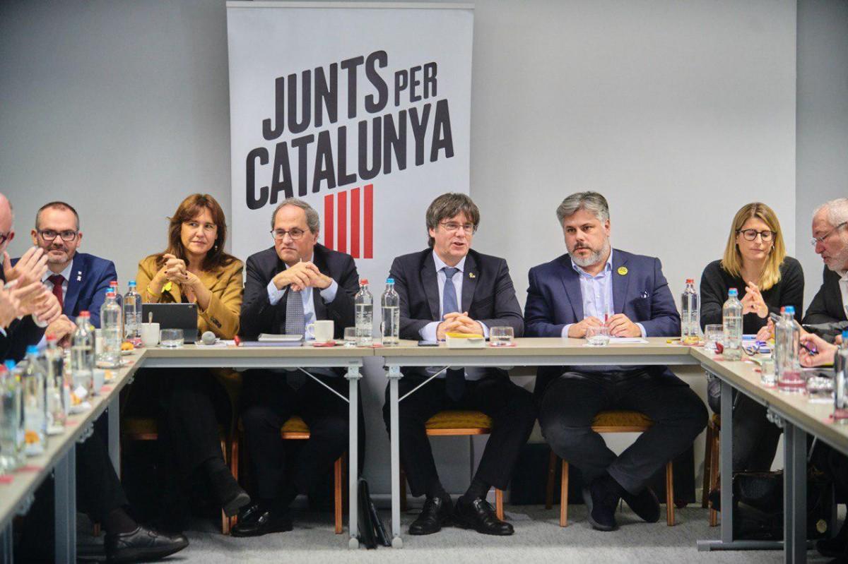 Reunió de Junts per Catalunya a Brussel·les