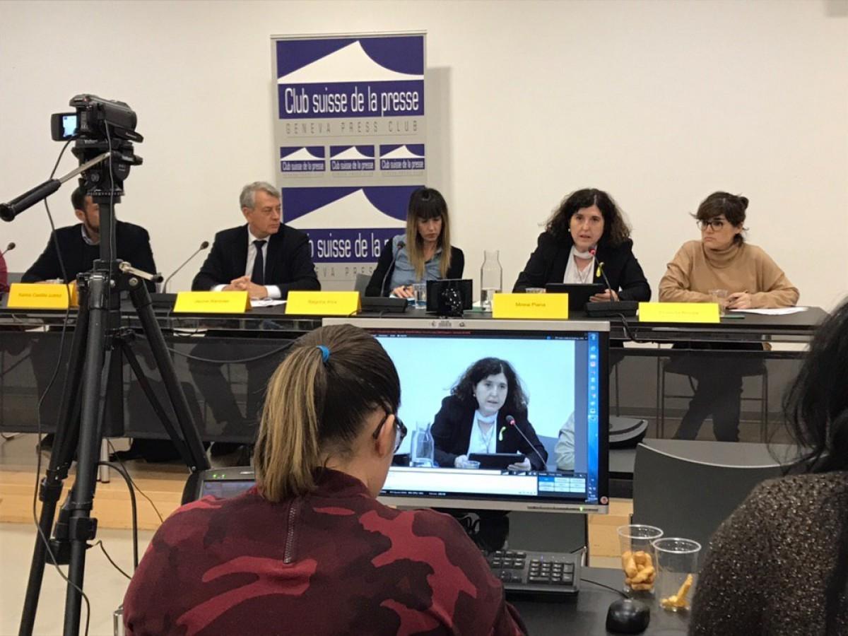 Presentació de les conclusions de les ONG que han denunciat incompliments dels drets humans a Espanya davant l'ONU.