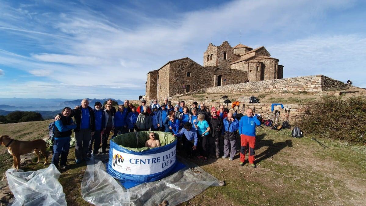 Jacuzzi del Centre Excursionista de Rubí a la Mola.