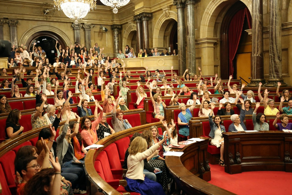 El 'ple' del 'Parlament de les Dones' que va tenir lloc l'1 de juliol de 2019 coincidint amb el 25è. aniversari de la IV Conferència Mundial sobre les Dones de Beijing.