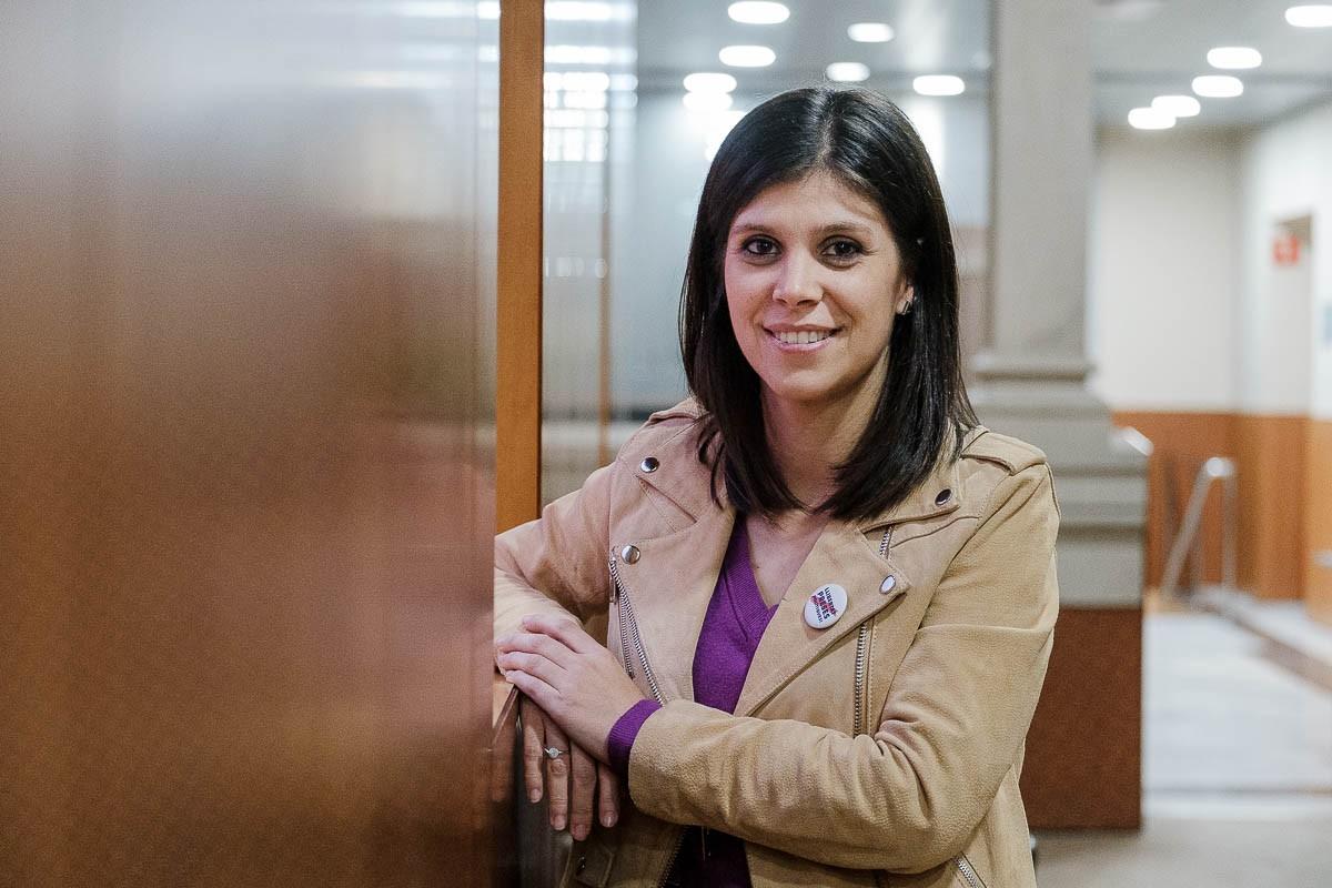 Marta Vilalta, durant l'entrevista amb Nació Digital