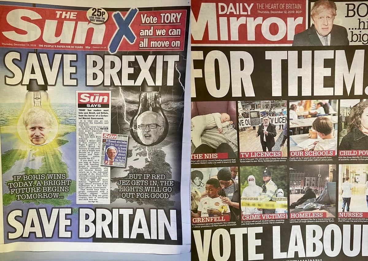 Les portades de «The Sun» i «Daily Mirror» d'aquest dijous.