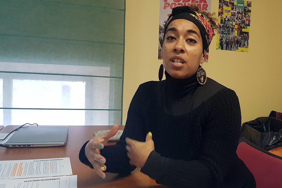 La directora del col·lectiu Afroféminas, Basha Changuerra