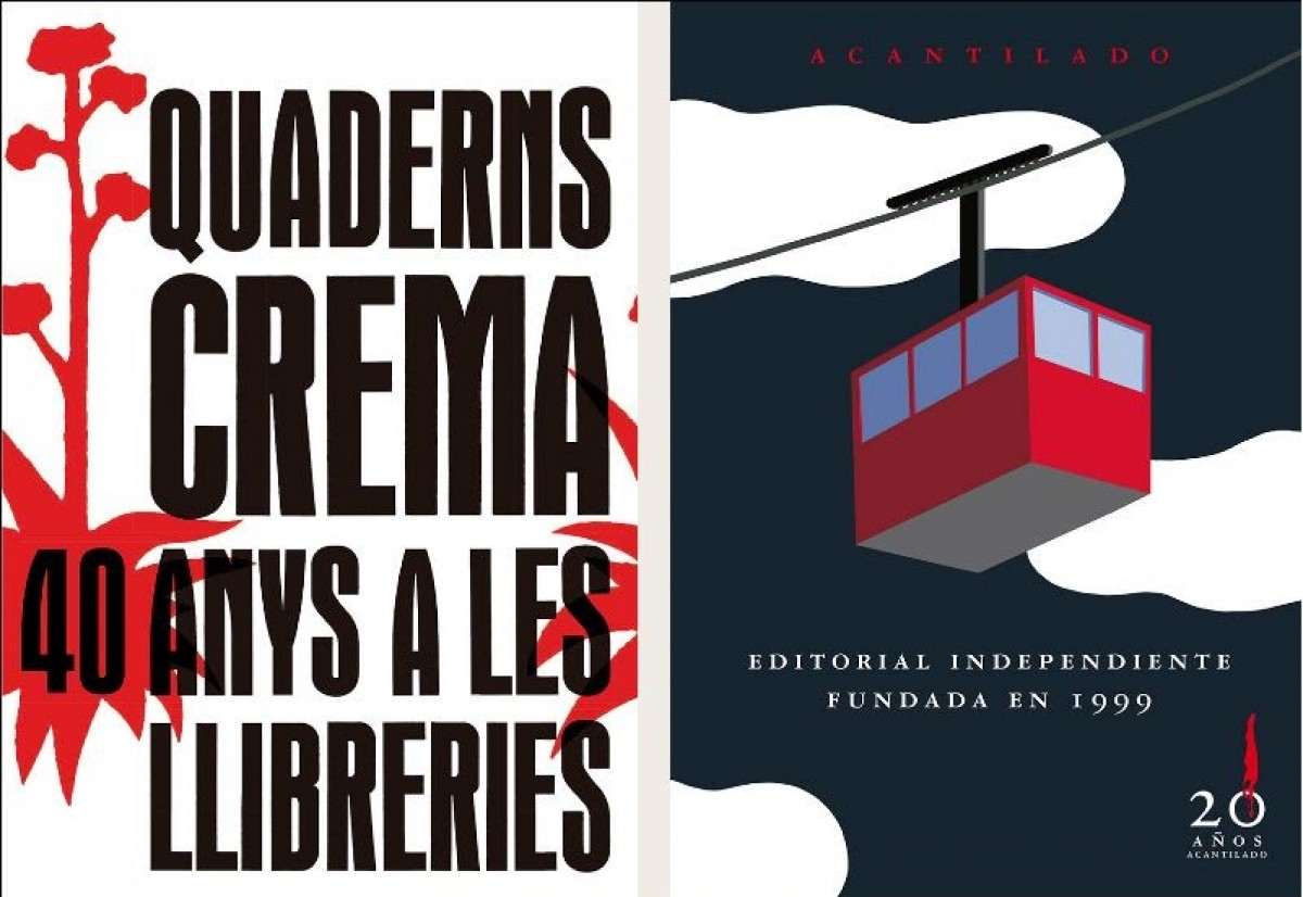 Cartells del 40 aniversari dels Quadern Crema