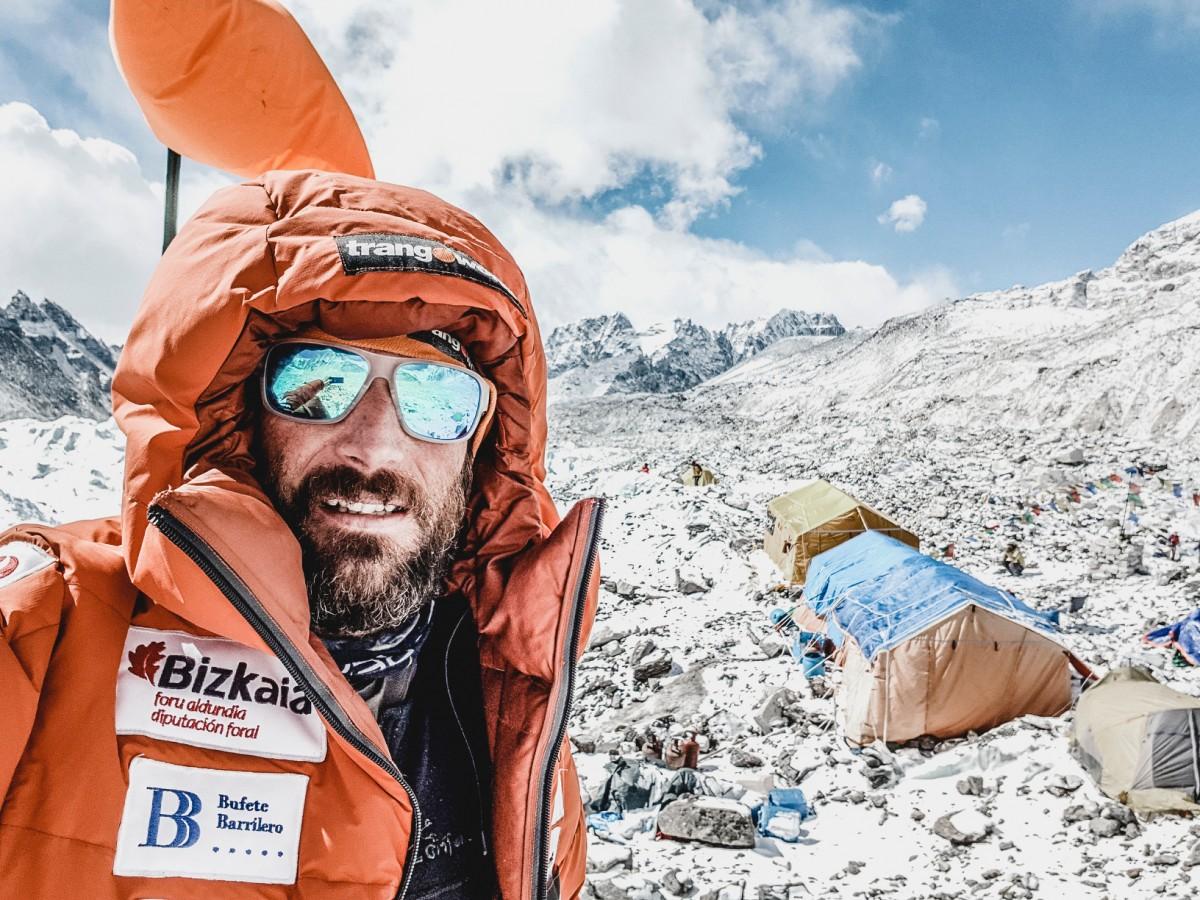 Alex Txikon durant  a l'Everest l'any 2018