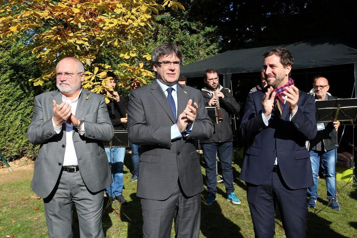 Carles Puigdemont, Toni Comín i Lluís Puig, en una imatge d'arxiu