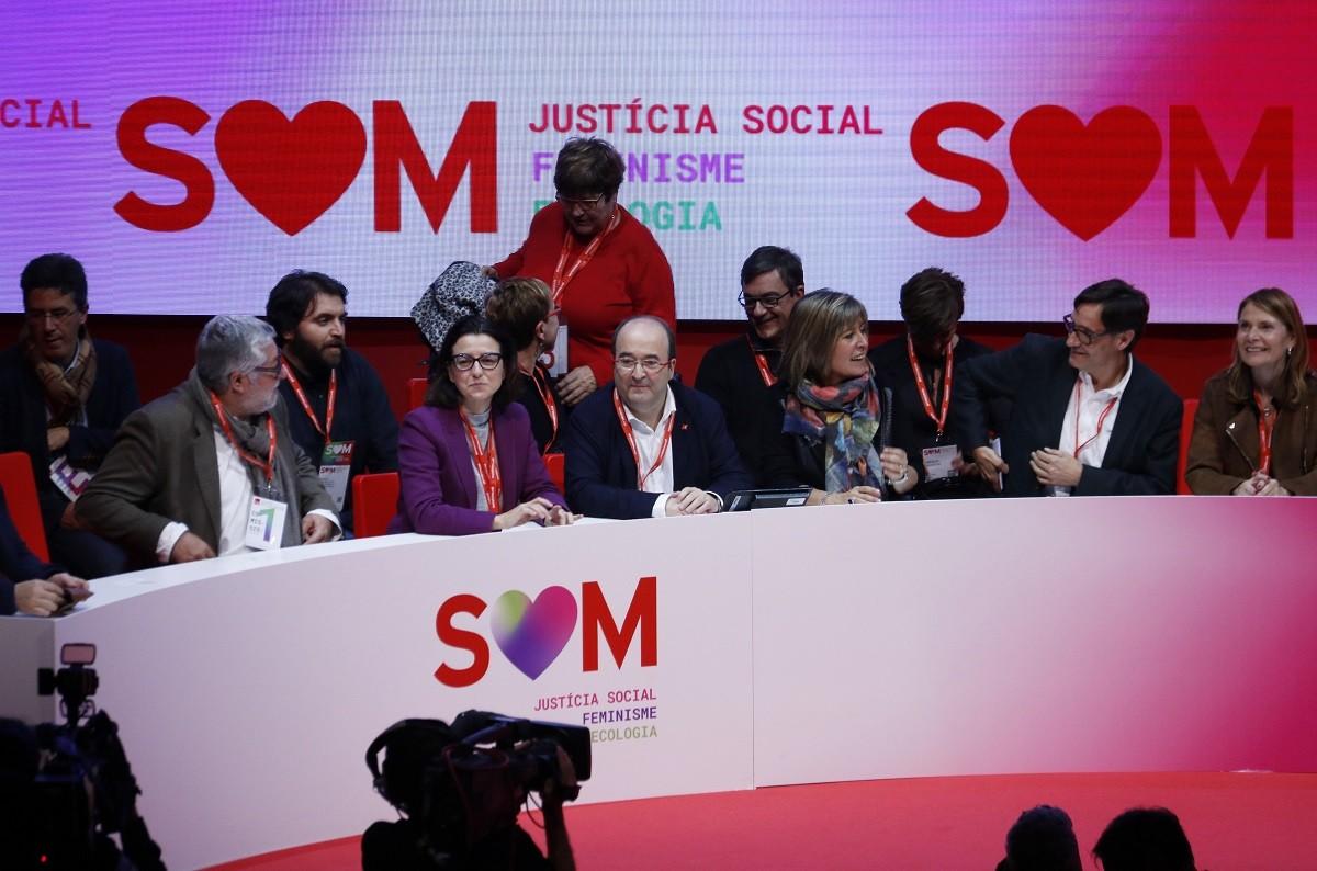 La cúpula del PSC, liderada per Miquel Iceta, al catorzè congrés del partit