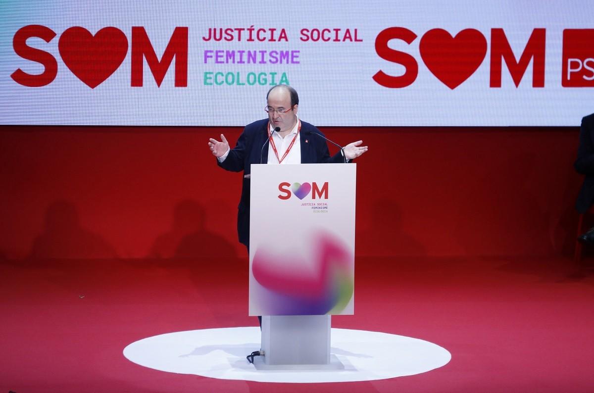 El líder del PSC, Miquel Iceta, al catorzè congrés del partit