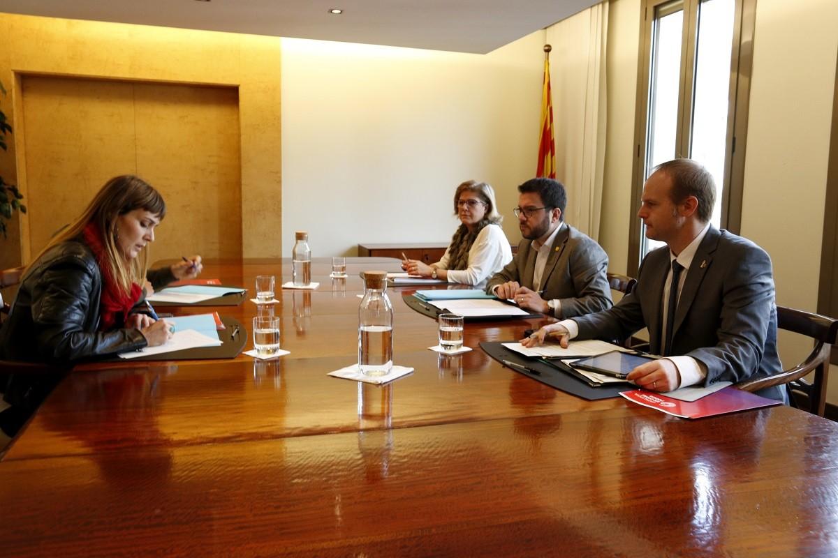 El vicepresident del Govern, Pere Aragonès, reunit amb Jéssica Albiach (CECP)