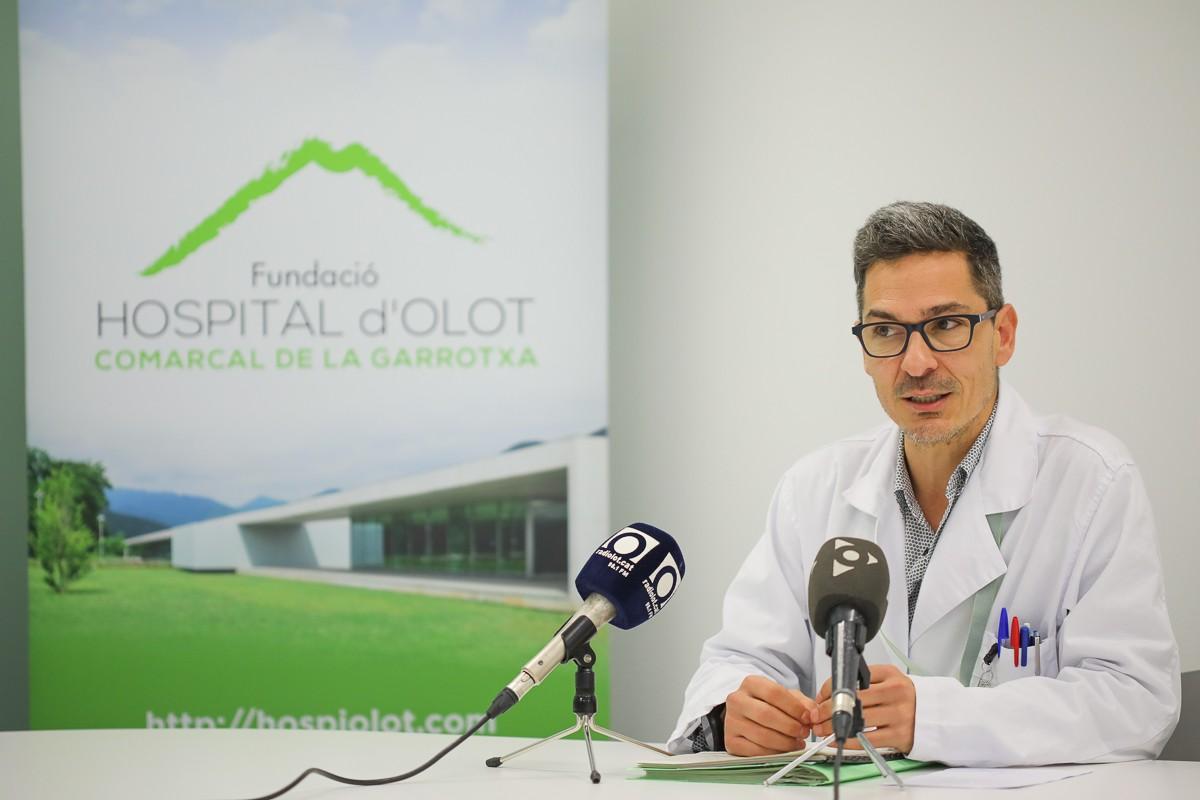 Jaume Heredia és el director mèdic de l'Hospital d'Olot i Comarcal de la Garrotxa.