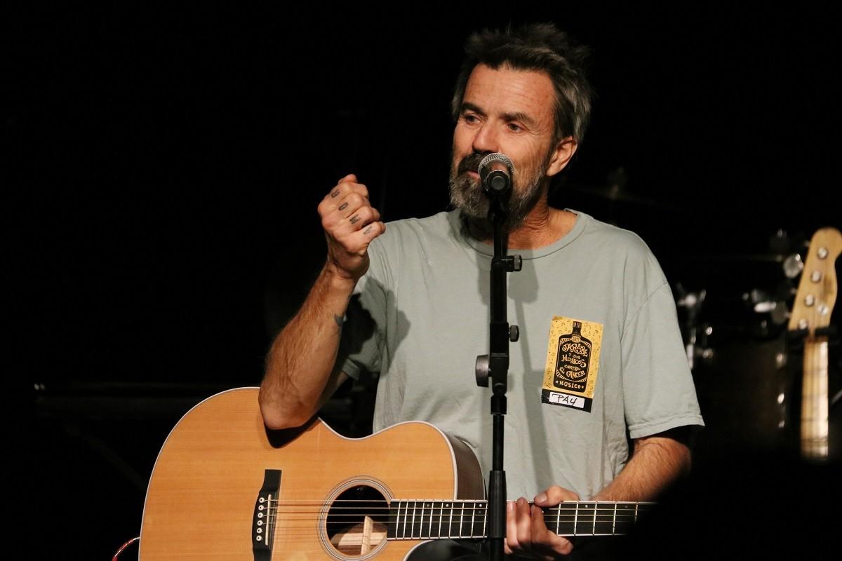 Pau Donés, en un concert de Jarabe de Palo a Barcelona.