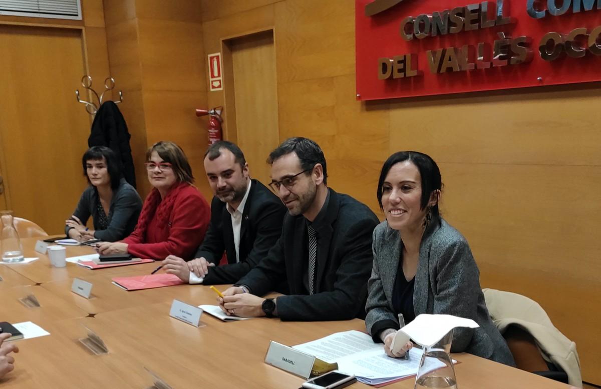 Els alcaldes de Sabadell i Terrassa amb el president del CCVOC