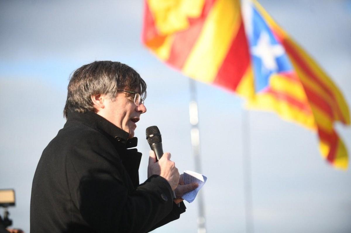 Carles Puigdemont, a Estrasburg