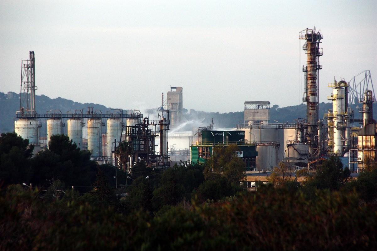 La química de Tarragona, l'endemà de l'explosió.