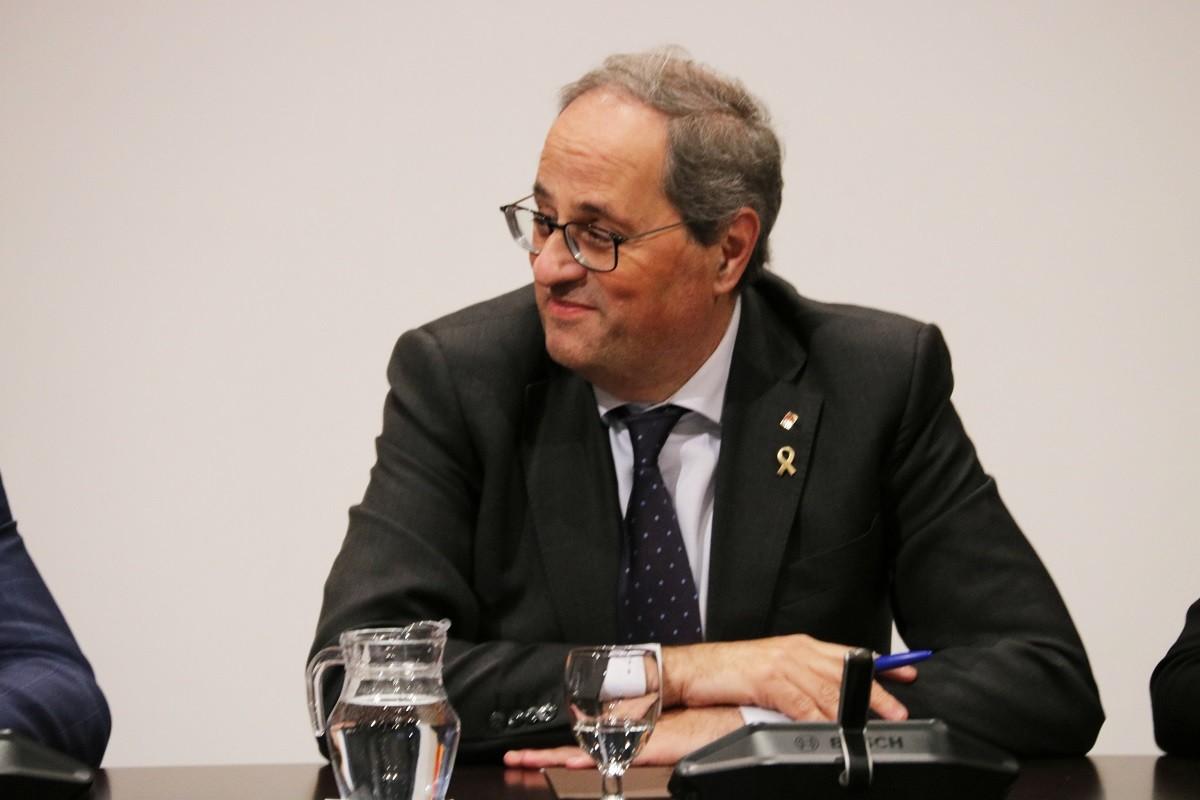 El president de la Generalitat, Quim Torra, en la cimera independentista