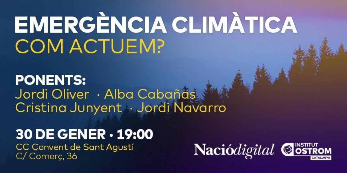 Acte sobre l'emergència climàtica organitzat per NacióDigital i l'Institut Ostrom