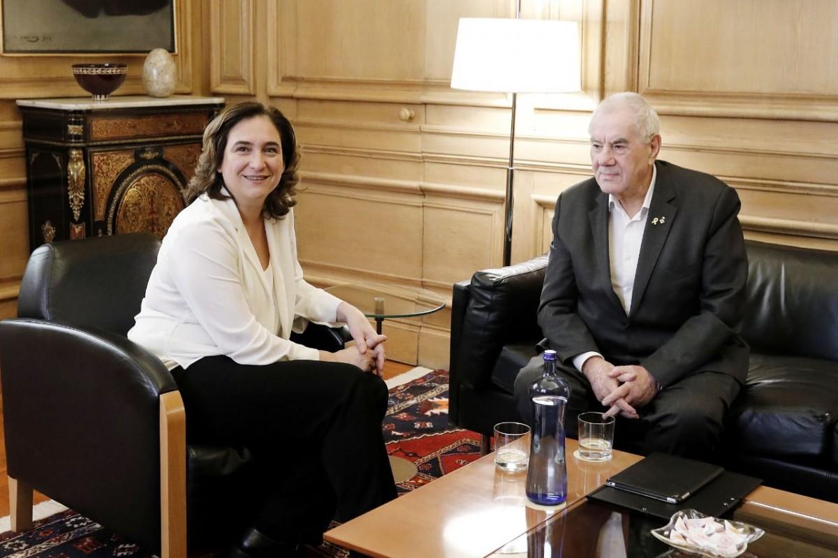 Ada Colau i Ernest Maragall, en la reunió d'aquest divendres a l'Ajuntament