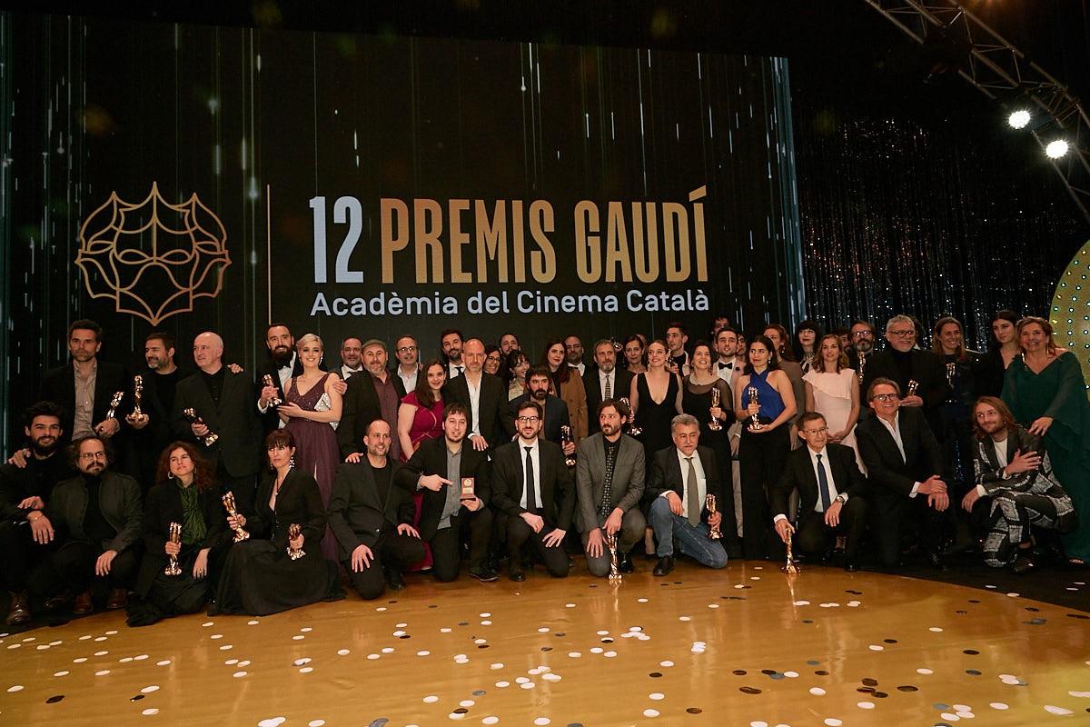 Tots els guardonats de la 12a cerimònia dels Premis Gaudí