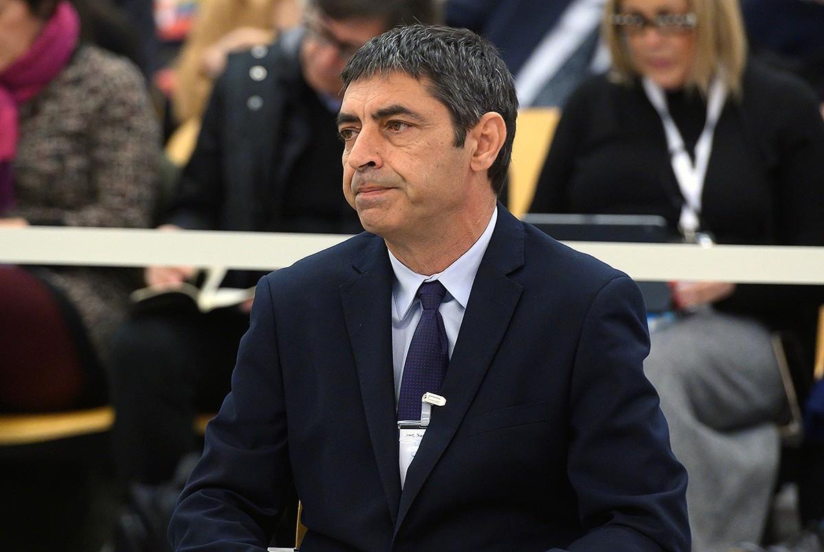 El major dels Mossos, Josep Lluís Trapero, durant el judici a l'Audiència Nacional