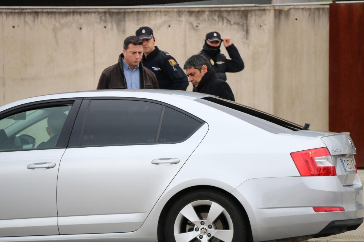 Josep Lluís Trapero, a la sortida del judici de l'Audiència Nacional