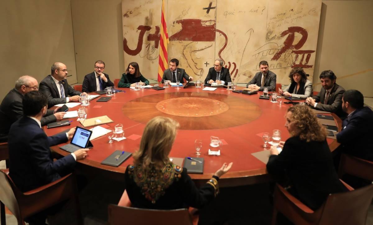 Reunió del consell executiu del Govern, aquest dimarts.