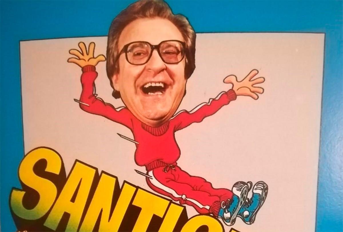 Santi Sans, en un cartell promocional.