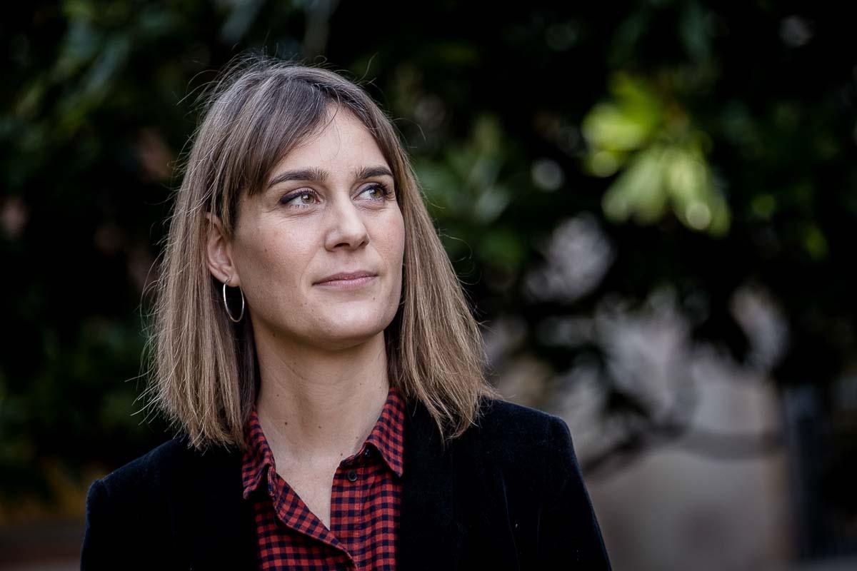 Jéssica Albiach, durant l'entrevista amb NacióDigital