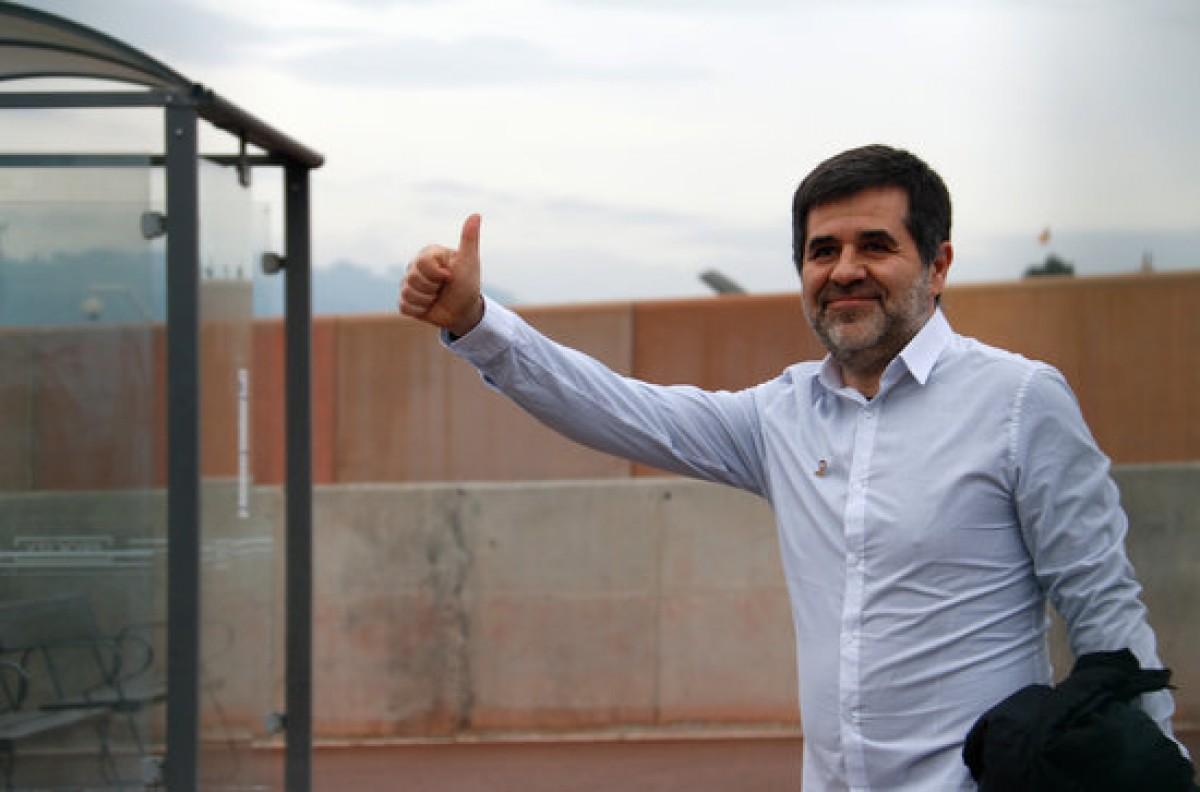 Jordi Sànchez, durant el seu permís a Lledoners