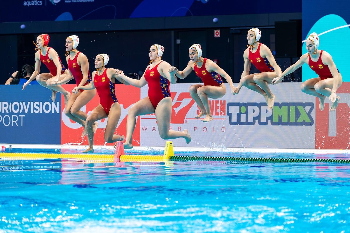 La selecció espanyola de waterpolo guanya l'or a l'europeu de Budapest