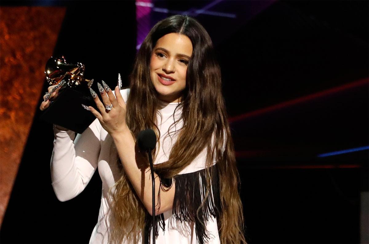 Rosalía, amb el Grammy