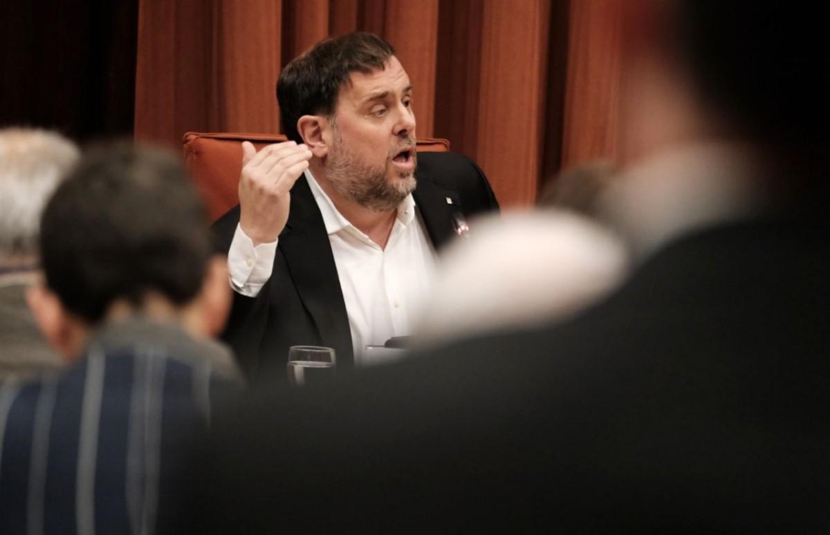 Oriol Junqueras, a la comissió del 155