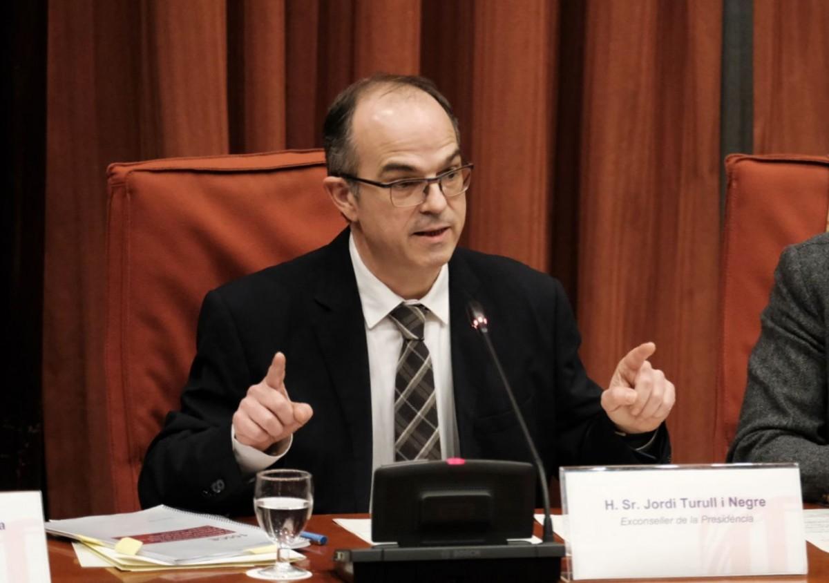 Jordi Turull, a la comissió del 155
