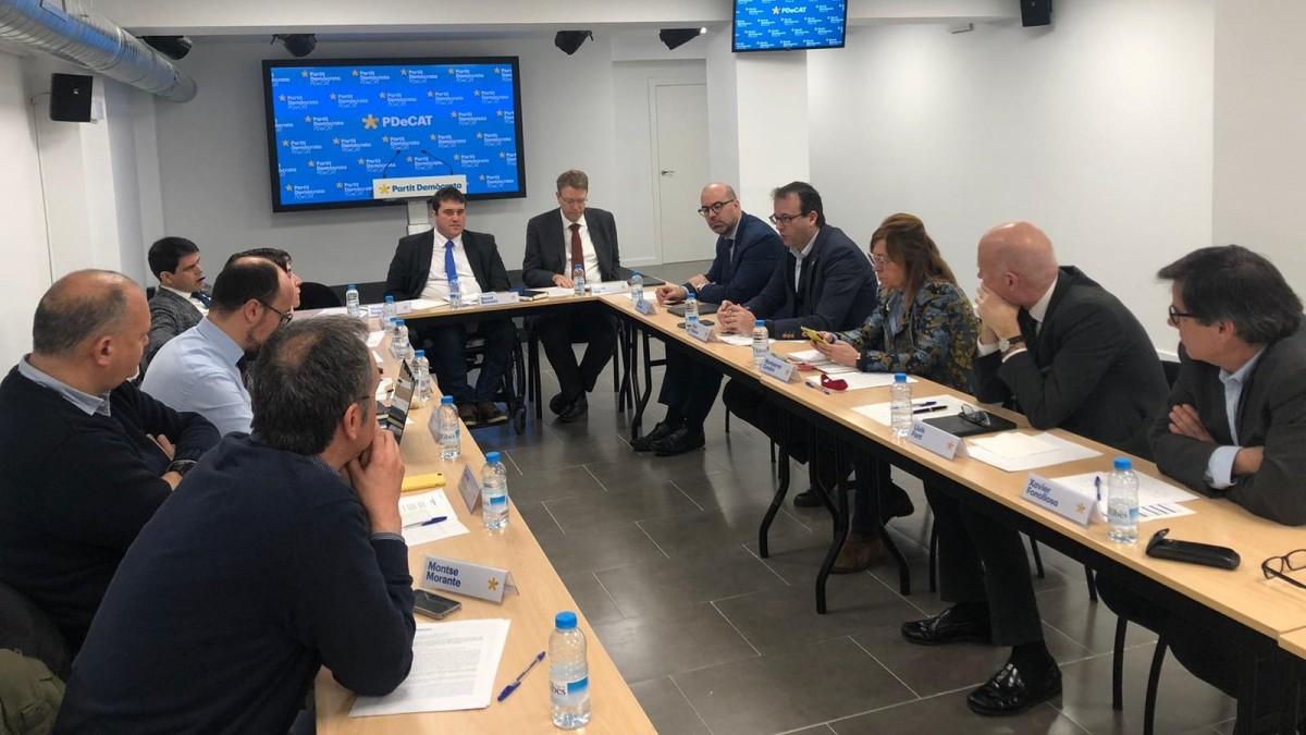 Reunió de la direcció executiva del PDECat.
