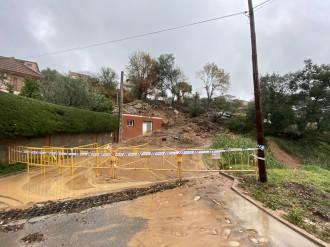 El temporal ensorra dues cases al Vallès Oriental