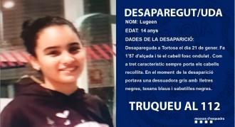 Desapareguda una noia de 14 anys a Tortosa