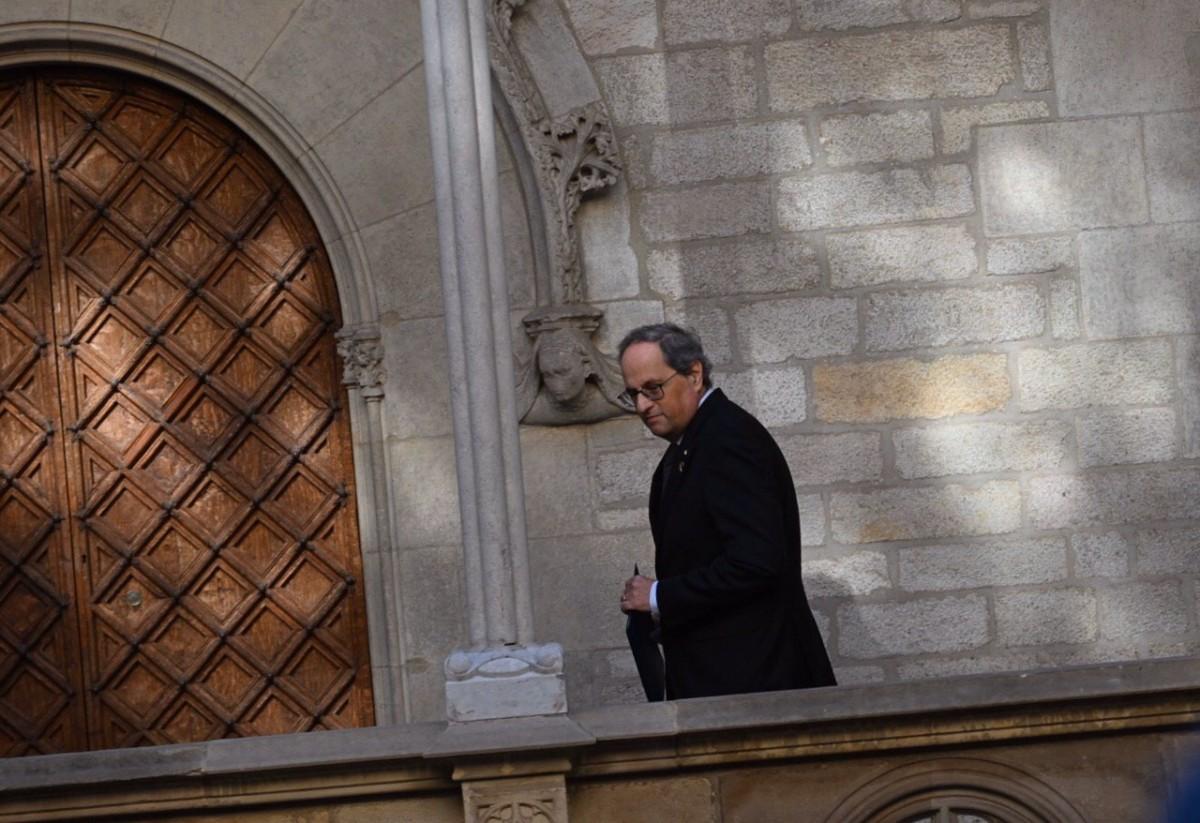 Quim Torra, al Palau de la Generalitat