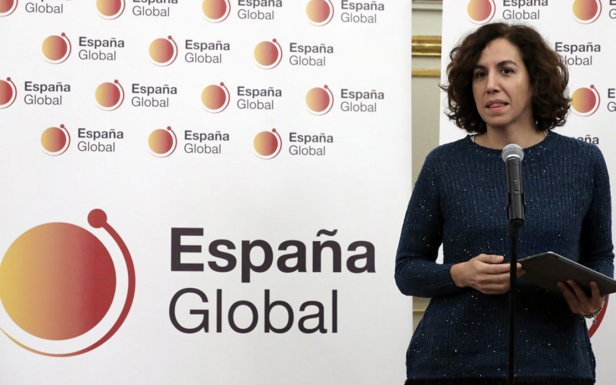 The Secretary of State for Global Spain, Irene Lozano, a body created specifically to confront the discourse of Catalan secessionism.