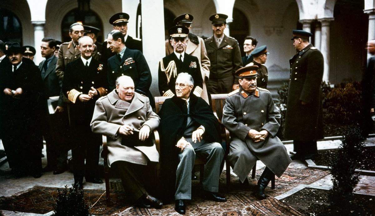 W.Churchill, F.Roosevelt i I.Stalin, a la Conferència de Ialta