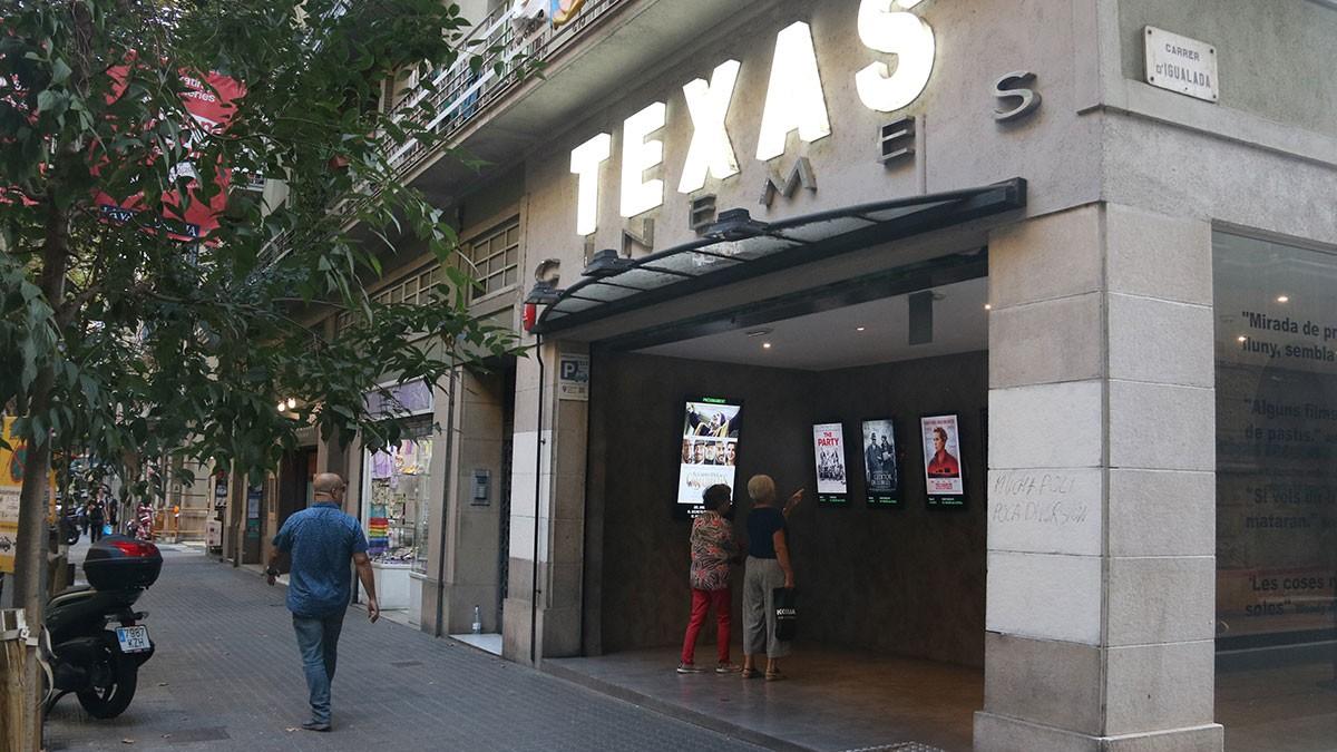 Els Cinemes Texas, al carrer Bailèn