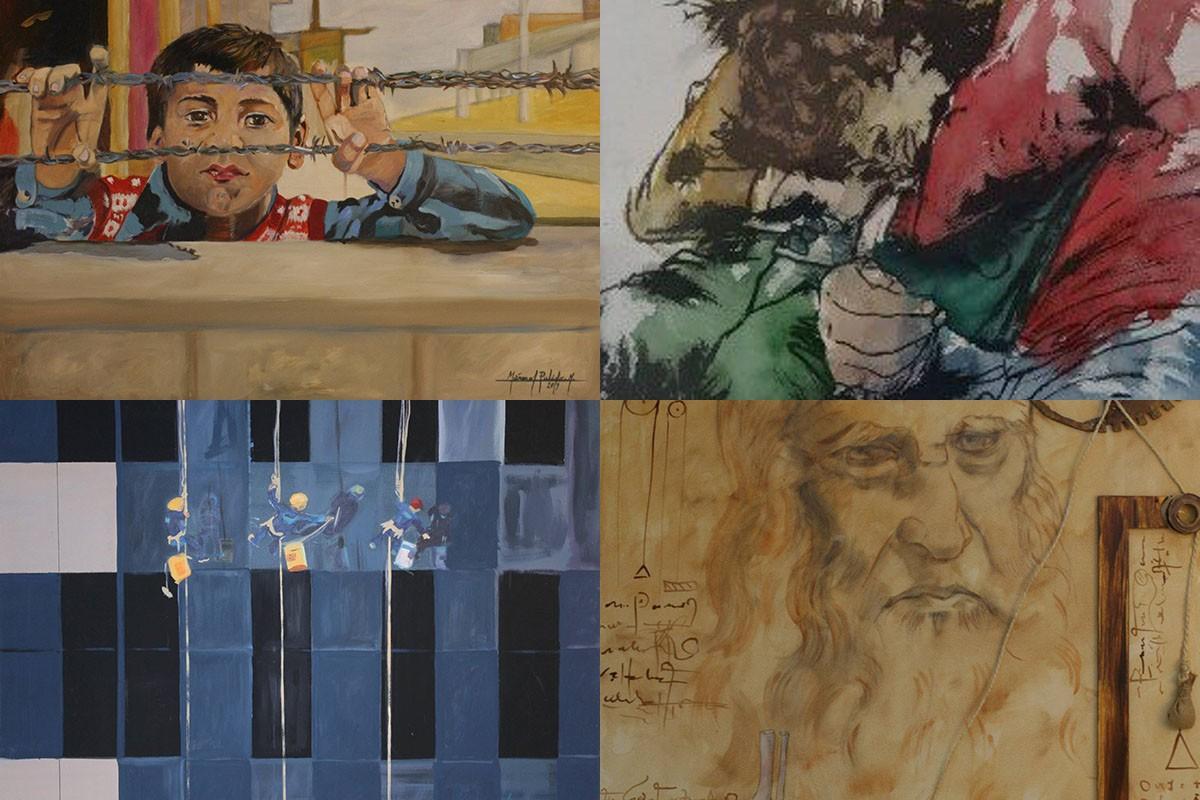 Quatre de les obres premiades als Premis Marraco